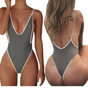 NWT-AllureLove Sexy Monokini Backless Swimsiut